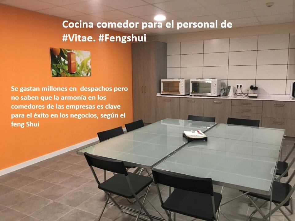 El comedor en la empresa Feng Shui